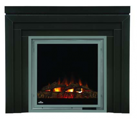 Napoleon EF30 Electric Fireplace With Heater And Metro Mantel