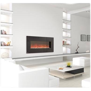 napoleon efl48 linear wall mounted electric fireplace with