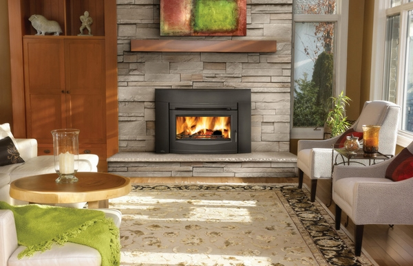 napoleon epi3c wood burning contempory black front