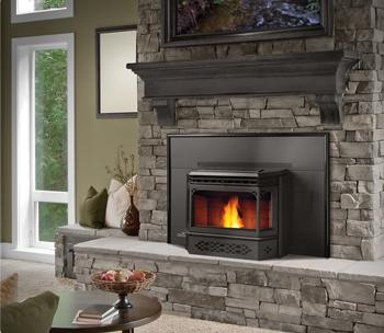 napoleon npi45 black pellet burning fireplace insert