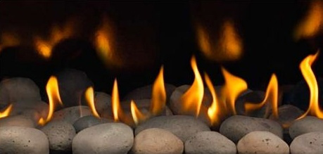 fireplace glass and architectural shapes napoleon river rock media