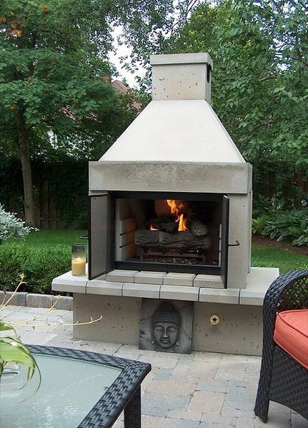 fireplaces mirage stone open face outdoor gas fireplace with gas
