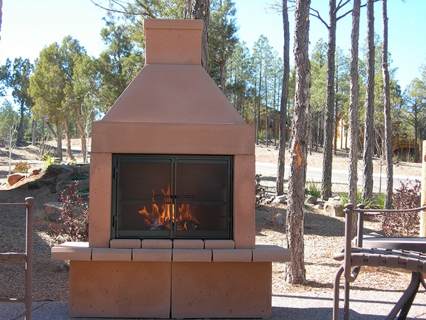 Mirage Stone Open Face Outdoor Woodburning Fireplace With