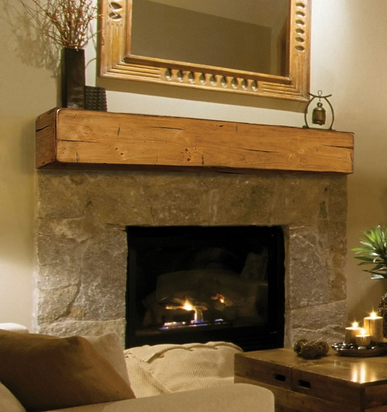 ... Shelves > Pearl Mantels 496 Lexington Wooden Fireplace Mantel Shelf