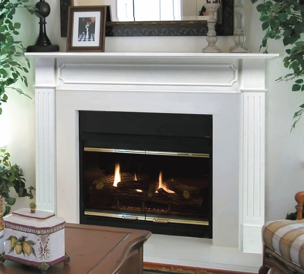 Pearl mantels 520 48 berkley mdf fireplace mantel in white - Pictures of fireplace mantels ...