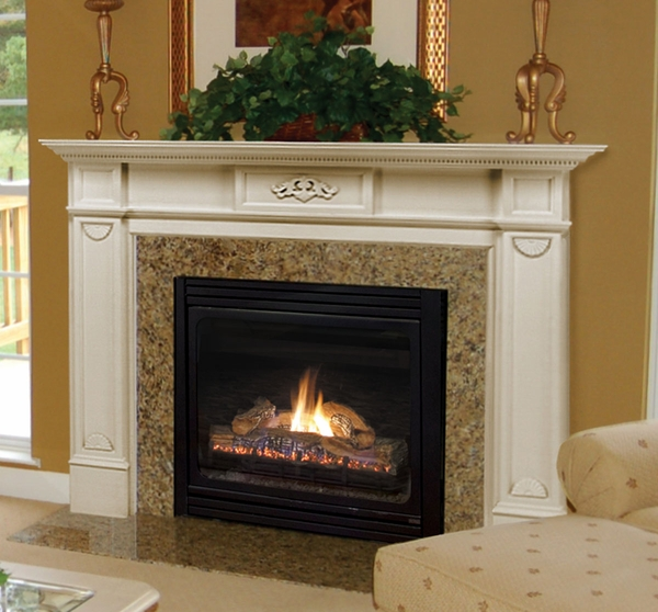 pearl mantels 530 monticello mdf fireplace mantel in white