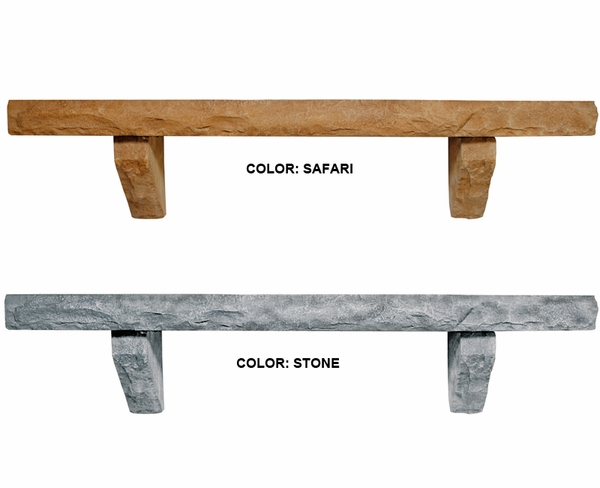 Pearl Mantels Perfection Cast Stone Mantel Shelf Natural