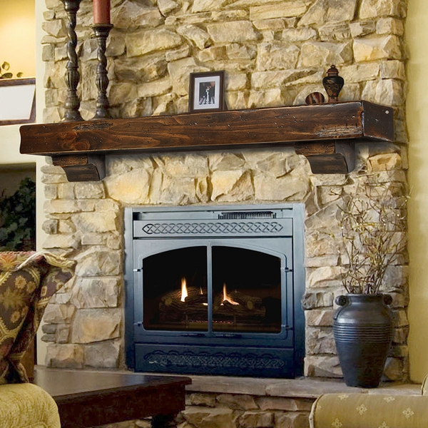 ... Wood Fireplace Mantels > Pearl Mantels 412 Shenandoah Fireplace Mantel
