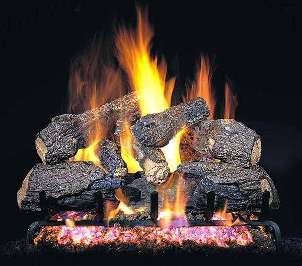Real Fyre 18 Quot Charred Northern Oak Vented Natural Gas Logs