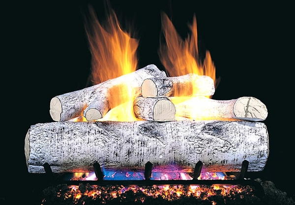 Real Fyre 18 Quot White Birch Vented Natural Gas Logs Set