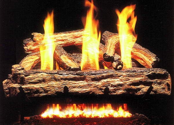 real fyre 20 split oak ventless natural gas logs set with