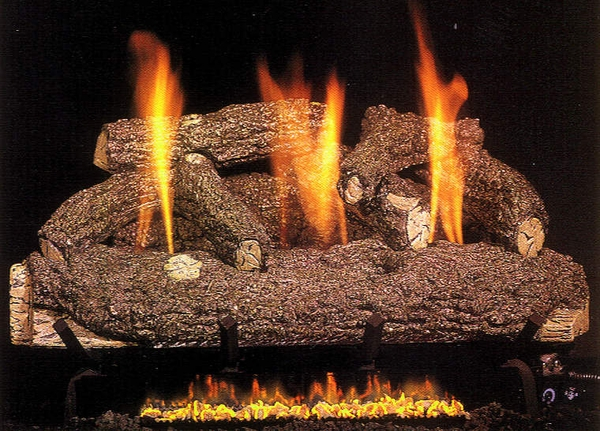 real fyre 24 forest oak ventless natural gas logs set