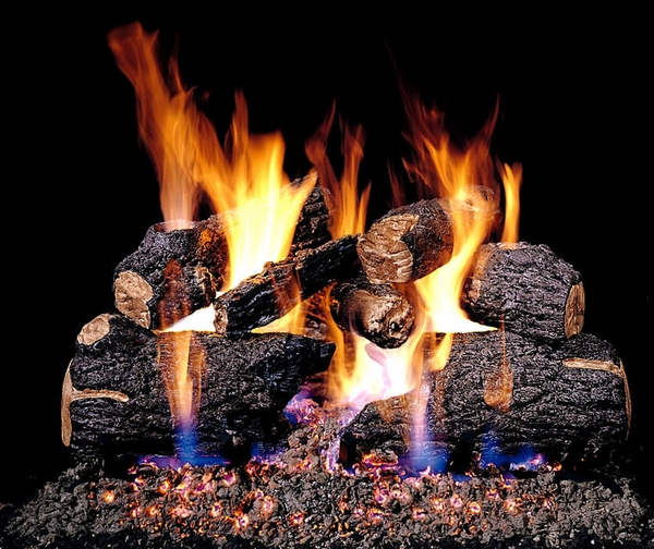 Real Fyre See Thru 30 Quot Charred Oak Vented Natural Gas Logs