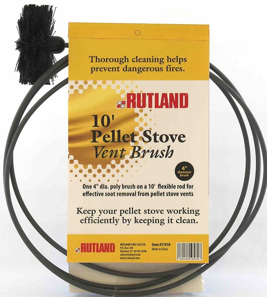 Rutland 4 Inch Pellet Stove And Dryer Vent Brush With 20
