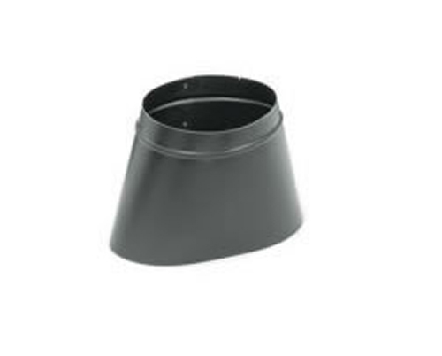 Snap Lock 6 Inch Black Steel Stovepipe Oval To Round Boot