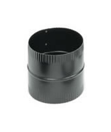 Snap Lock Black Steel Stovepipe Male Coupling For Joining