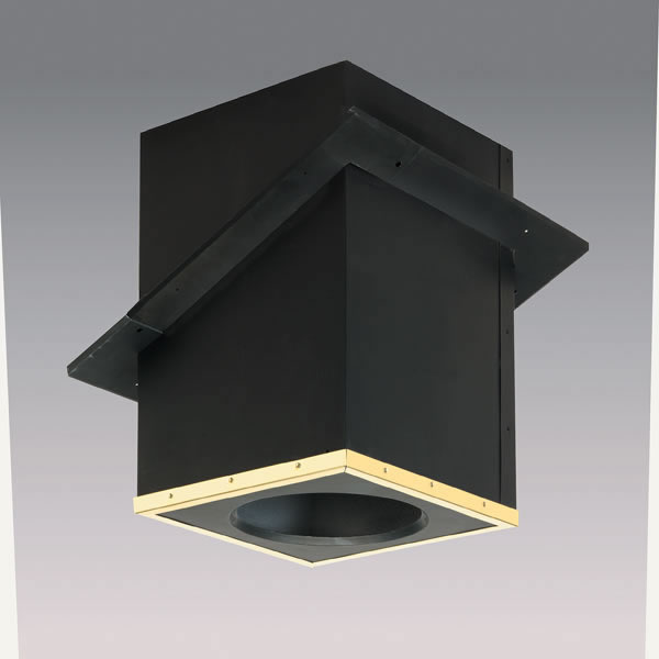 SuperVent All-Fuel Chimney Pipe Cathedral Ceiling Support . - Wall Thimble For Wood Stove Great Furniture References