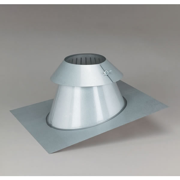 Supervent All Fuel Steep Pitch Roof Flashing With Storm