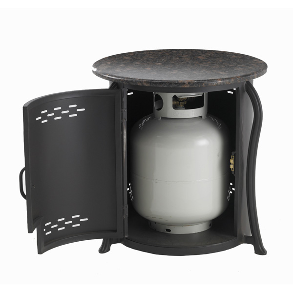 how to connect propane tank to gas fireplace