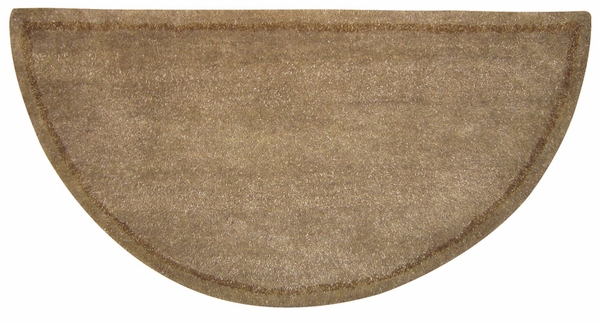 Uniflame Beige Half Round Wool Hearth Rug