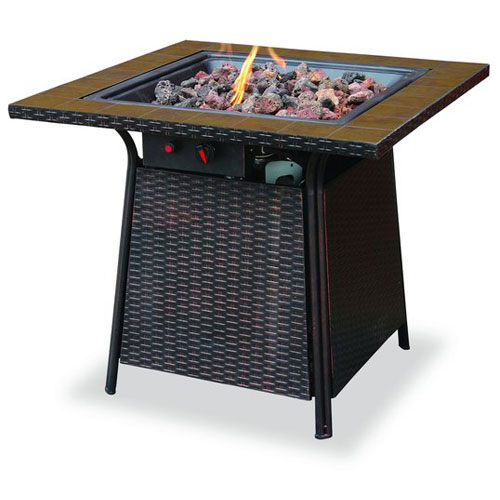 Uniflame Propane Fire Pit With Tile Mantel