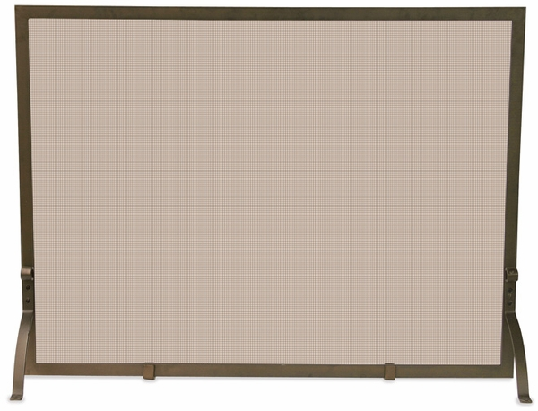 UniFlame Single Panel Bronze Fireplace Screen - Single Panel Bronze Fireplace Screen