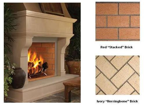 Vantage Hearth Oracle 36 Inch Wood Burning Mosaic Masonry