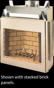 vantage hearth oracle outdoor wood burning firebox with