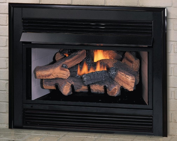 Vent Free Natural Gas Logs With Remote Thermostat And Blower