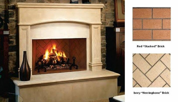 Decoration Fireplace Designs With Brick Small Stone Ideas Candle ...
