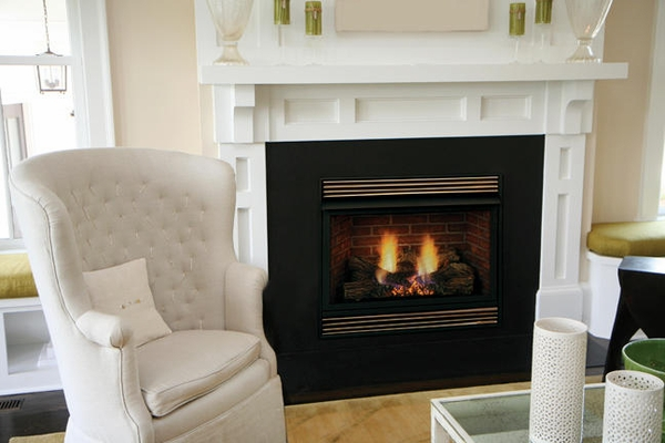 Majestic Vfh 32 Quot Ventless Fireplace With 24 Quot Triple Play