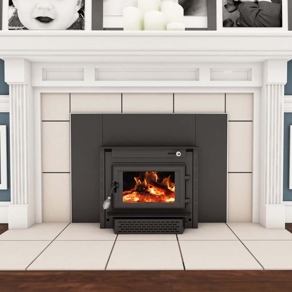 Vogelzang Wood Burning Colonial Fireplace Insert with Blower - TR004 - Wood Burning Colonial Fireplace Insert With Blower - TR004