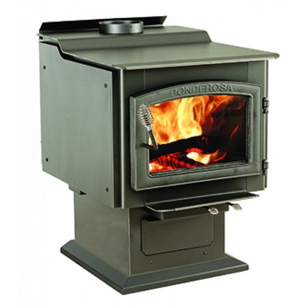 vogelzang wood burning ponderosa epa wood stove with