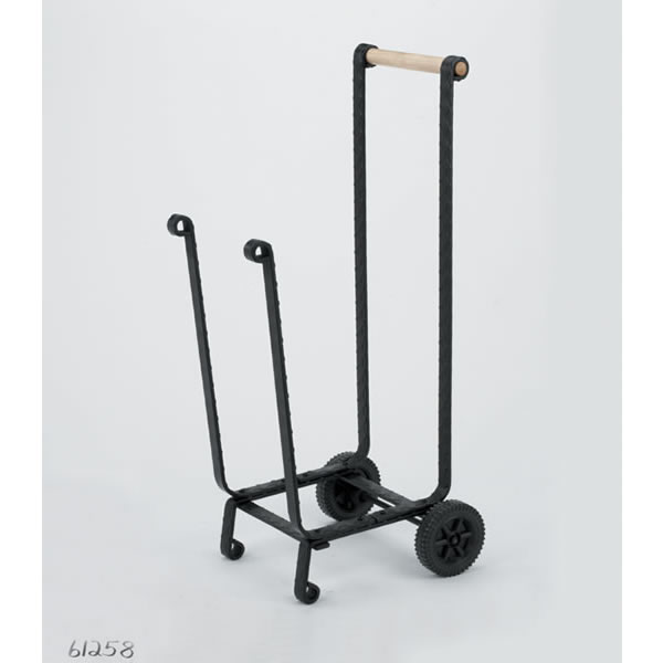 Wood carriers amp firewood carts gt woodfield black wood cart with wheels