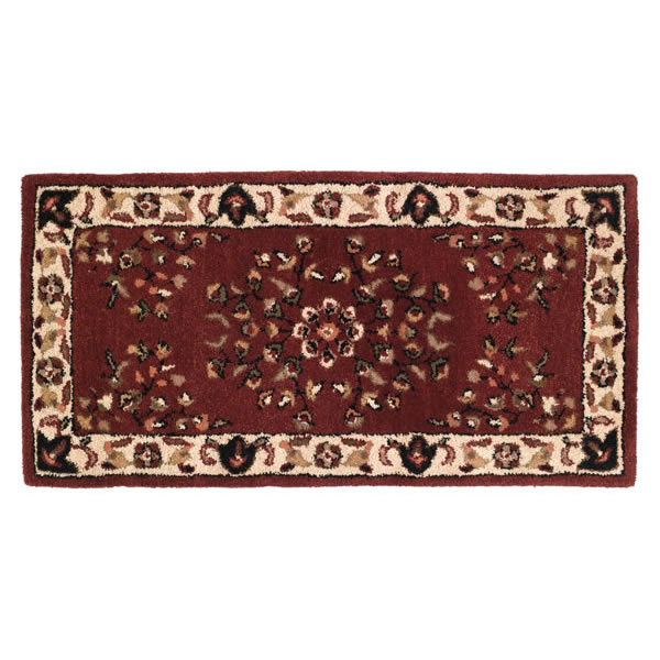 Woodfield Brick Red Rectangular Wool Oriental Hearth Rug