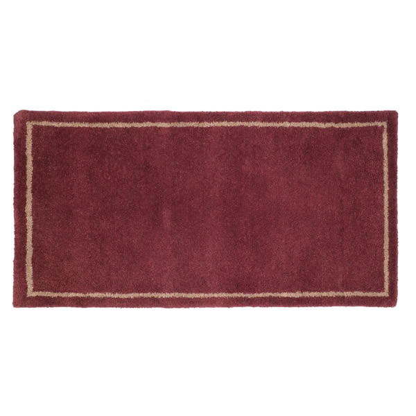 Fireplace Rug Wool: Woodfield Mulberry With Border Contemporary Rectangular