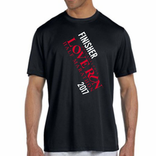 Love Run Philadelphia Half Marathon: 'Finisher' Men's SS Tech Tee - Black - by New Balance