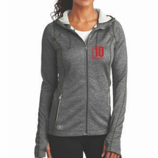 Perfect 10 Miler: 'Left Chest Embroidery' Women's Polyester Full Zip Jacket - Diesel Grey - by OGIO®