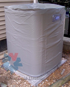 """Carrier Winter Air Conditioner Cover ICC58-079 fits Condenser numbers 24ABA442 series 0, 24ABA460 series 0, 24ABR360 series 2 & 3, 24ACA442 series 0 and 24ACA460 series 0. A/C Unit dimensions 45 15/16""""H x 35""""W"""