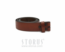 Leather Belt Strap  - cognac-extra large (XL)