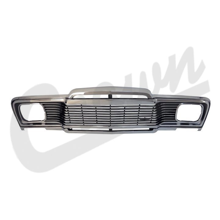 J5465070 New Replacement Chrome Grille For 1979-85 Jeep
