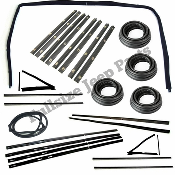 Weatherstrip Kit 4 Door Grand Wagoneer Cherokee