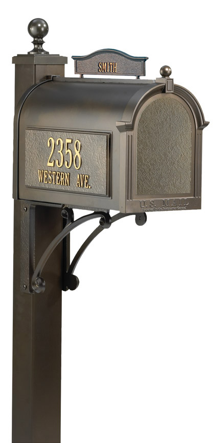 Whitehall Ultimate Mailbox Package With Topper And Side