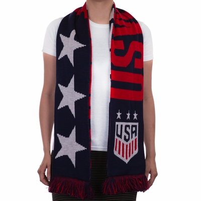 2016 USWNT 3-Star Scarf - Blue - Click to enlarge