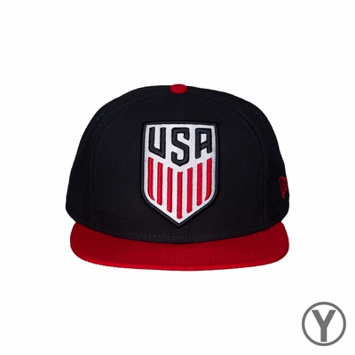 Kids New Era U.S. Soccer 9FIFTY Logo Grand Redux - Navy/Red - Click to enlarge