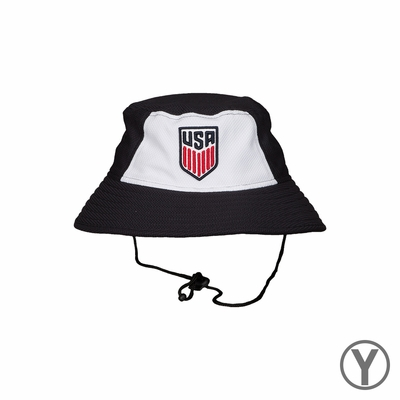 Kids New Era U.S. Soccer Bucket Block Hat - Navy/White - Click to enlarge