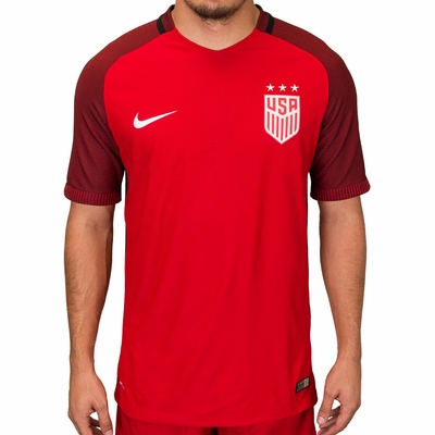 Men's Nike USA 2017/2018 3-Star Vapor Match Red Jersey - Click to enlarge