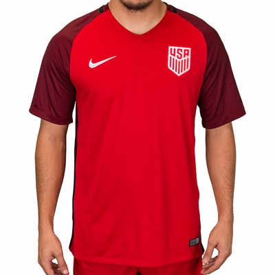 Men's Nike USA 2017/2018 Stadium Red Jersey - Click to enlarge