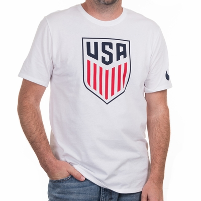 Men's Nike USA Crest Tee - White - Click to enlarge