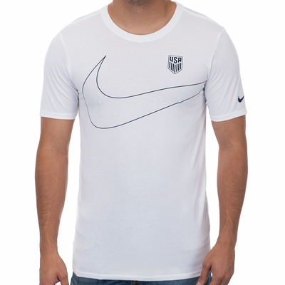 Men's Nike USA Preseason Tee - White - Click to enlarge